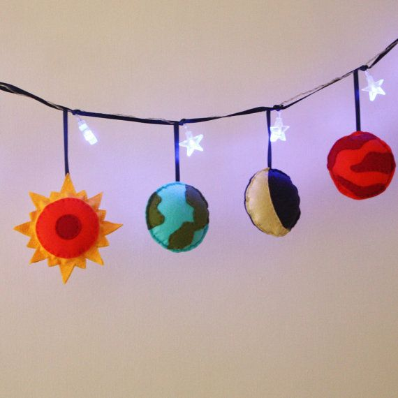Solar System Fairy Lights- Planets, Boys Room Decor, Girls Room Decor,  Space theme, Girls Birthday gift, Boys Birthday gift