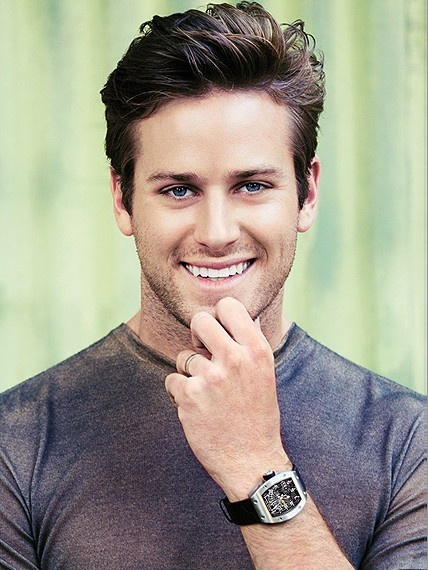 Armie Hammer is seriously beautiful. #ChristianGrey