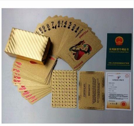 Золотые игральные карты колода водонепроницаемый покер — Вы и я магазин