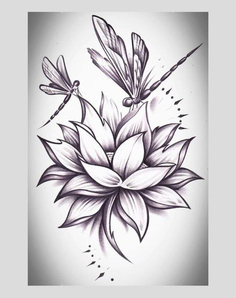 dragonfly and lotus flower tattoo - Google Search