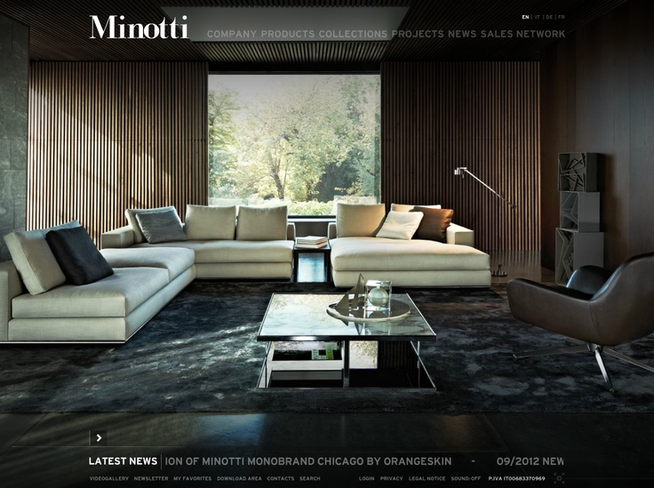 Minotti interior residential pinterest interiors for Tiffany d living room