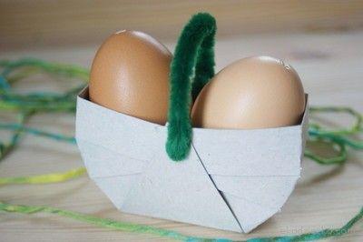 Wielkanocny koszyczek z recyklingu- przestrzenna praca plastyczna dla dzieci. Easter basket with plastic work recyklingu- space for children.