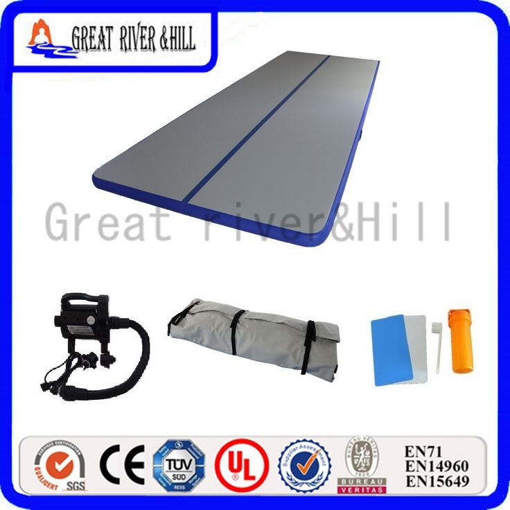 20ft inflatable air mat gymnastic training mat for kids sports direct air track on water with free pump and 6m x 1.8m  #Affiliate