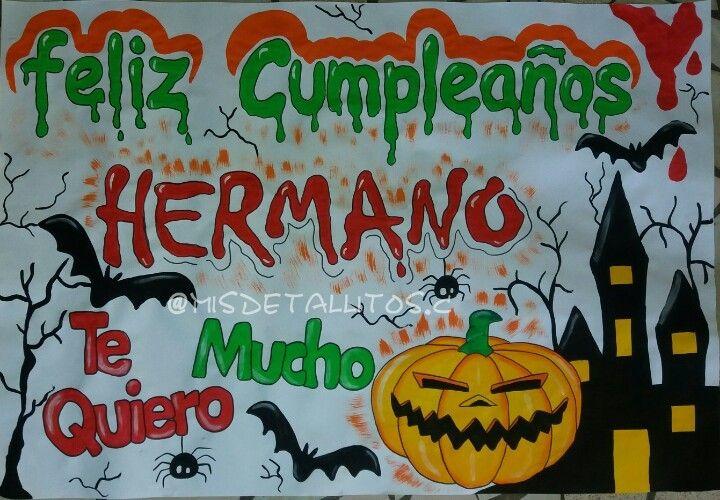 Pancarta De Cumpleanos Hallowen Halloween Art