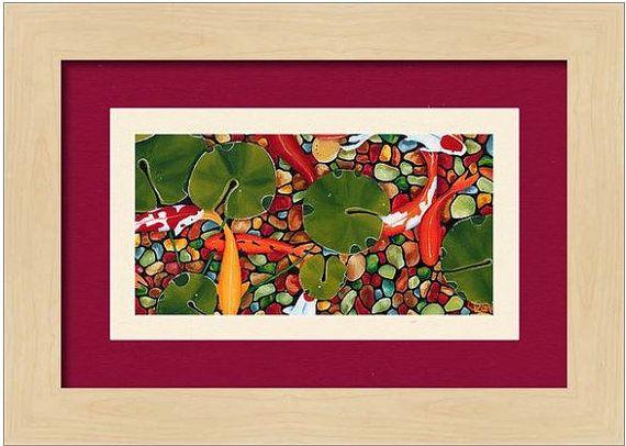 Koi PRINT Wall Art Canvas Wall Decor Art Home Decor Home U0026 Living Interior  Design Art Wall Hangings Nature Art Gift