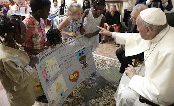 Papież Franciszek spotkał się z uchodźcami