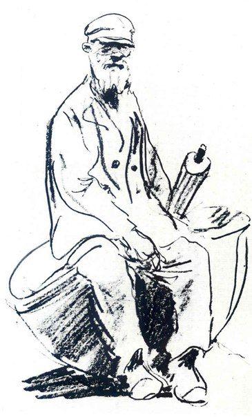 Кокорин Анатолий Владимирович (1908-1987). Наброски людей.