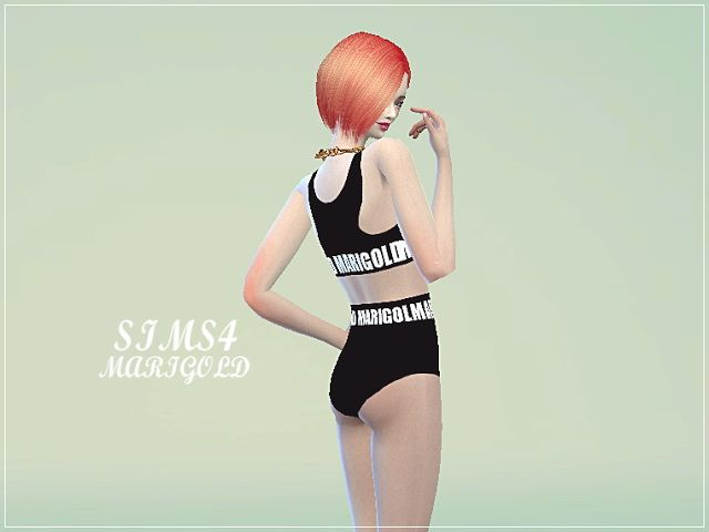 Sporty swimsuit at Marigold • Sims 4 Updates