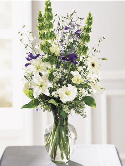 Spring Bouquet | Bells of Ireland | Delphinium | Blue Iris
