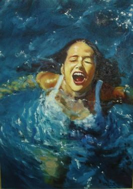 "Saatchi Online Artist Regina Oliveira; Painting, ""BREATHE"" #art"
