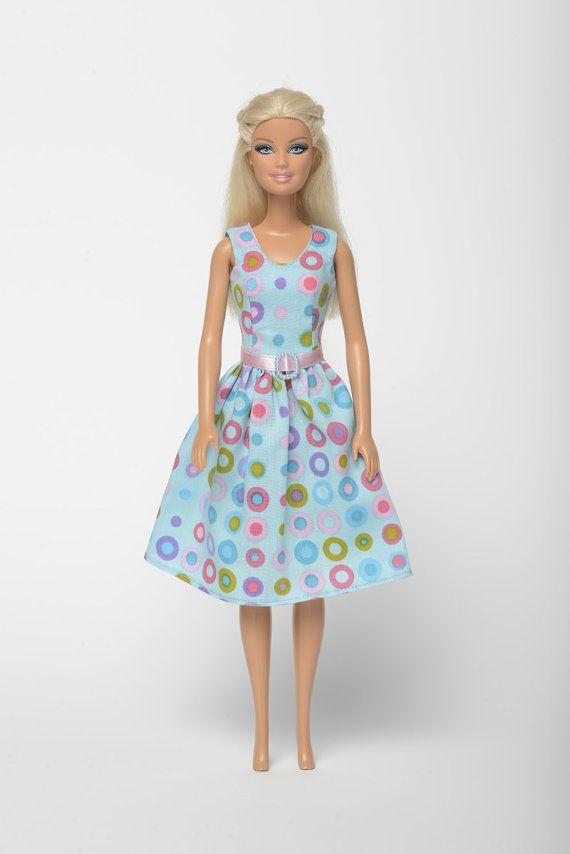 """Handmade Barbie doll clothes, Barbie dresses, Barbie outfit - """"Bubbles"""" Barbie dress  (262)"""