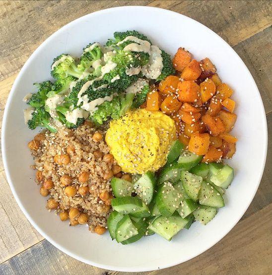 Crunchy quinoa bowl.