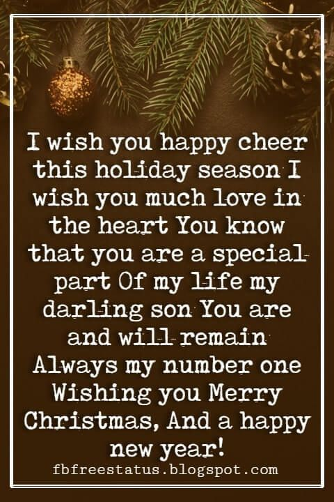 40 Christmas Messages For Son Christmas Quotes Christmas