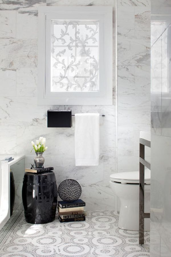 A Few Luxurious Touches, Not To Mention Marble Walls, Create A Glamourous  Bathroom.