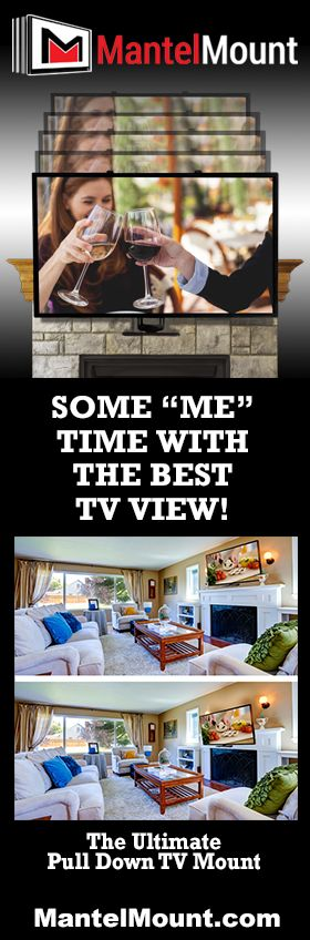 With a 24 inch vertical drop capability, along with a 40 degree swivel, heat sensor handles, paintable covers to hide wall hardware and cable routing boxes for your wires, this over-the-fireplace TV mount really has it all. MantelMount's full-range motion allows you to adjust the TV in any direction, eliminating TV screen glare & neck strain.This eye-level viewing gives you true comfort & the perfect home entertainment experience every time!