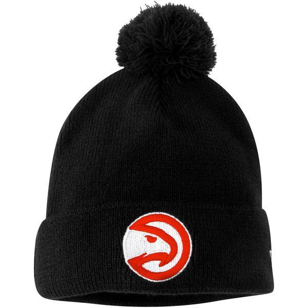 Atlanta Hawks New Era Circle Hawk Logo Cuffed Knit Hat - Navy Blue - $19.99