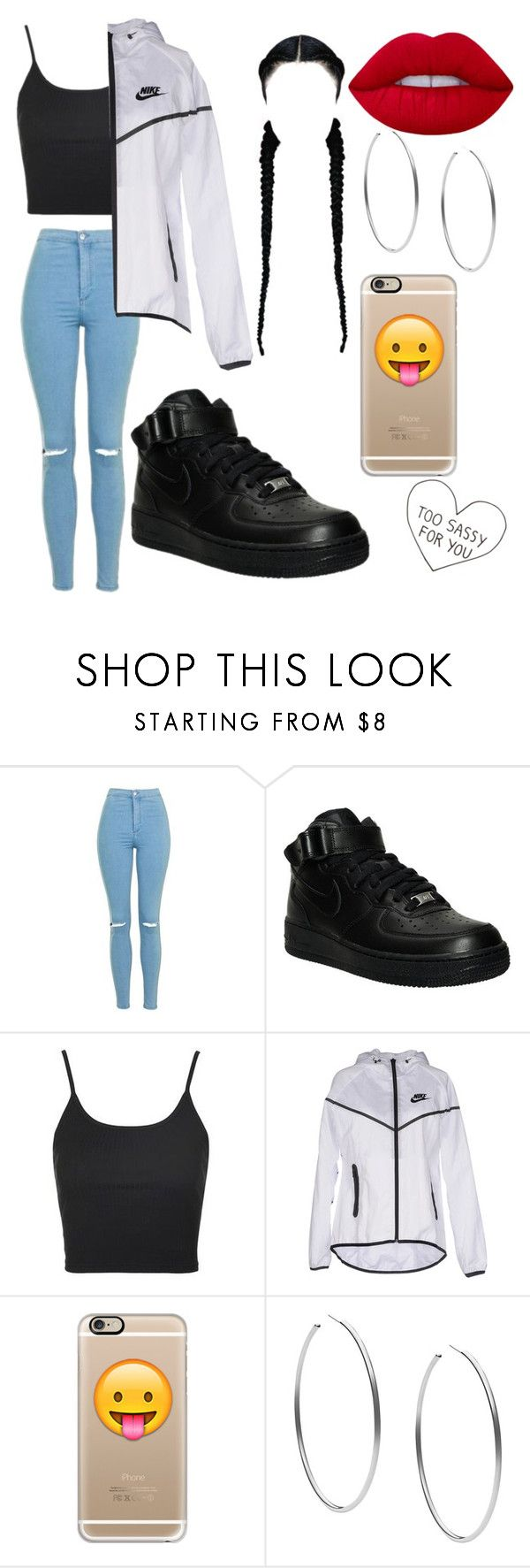 """Untitled #189"" by lovealysah2 ❤ liked on Polyvore featuring Topshop, NIKE, Casetify, Michael Kors and Lime Crime"