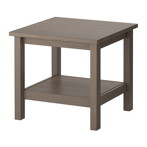 IKEA  HEMNES, Side table, greybrown, , Solid wood has a