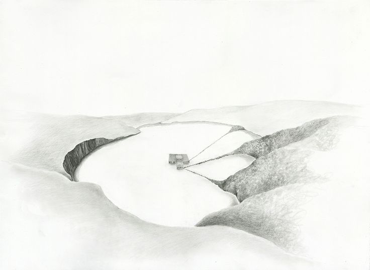 Hollow, Pencil on somerset paper, 56.5 x 76.5 cm, 2013
