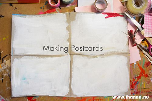 "So easy anyone can make postcards, right? You just ""slap one together""... But how to dip your toes if you´re new to mixed media and making mail art? #diypostcardswap #mailart"