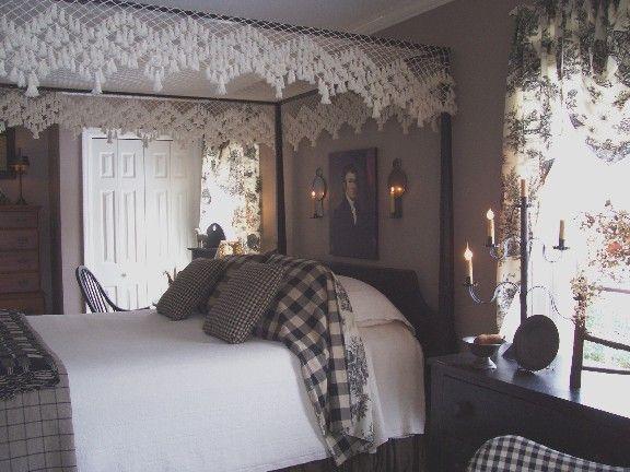 Colonial bedroom, Primitive Stitcher