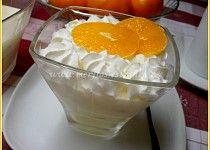 Tvarohový pohár s mandarinkami