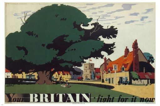 FIGHT FOR BRITAIN vintage poster frank newbould UNITED KINGDOM 1942 24X36 gem