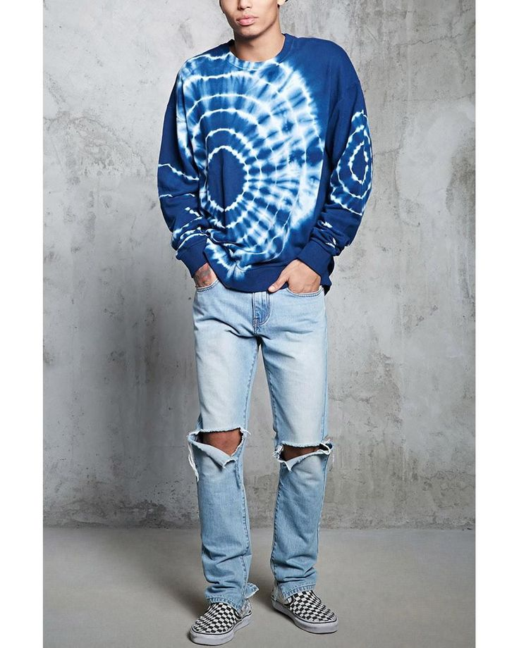 Buy Forever 21 Men's Blue Tie-dye Sweatshirt, starting at $25. Similar products also available. SALE now on!