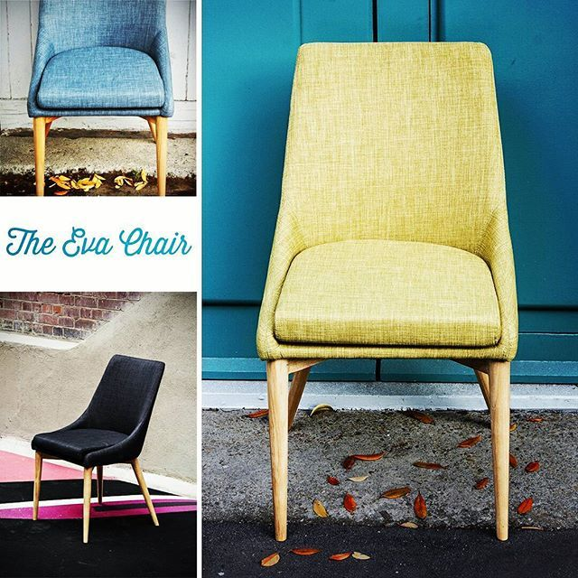 The Eva Chair - available in 5 stunning colours www.salamander.co.nz/furniture/dining-room/dining-chairs/plevay-eva-dining-chair-jewelled-yellow