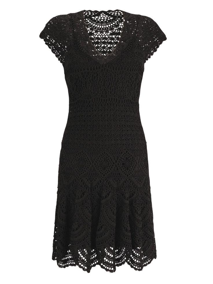 Little Black Dress free crochet graph pattern