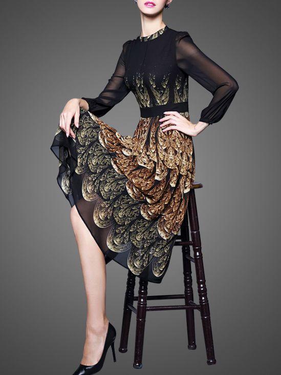 Printed  Midi dress on stylewe.com