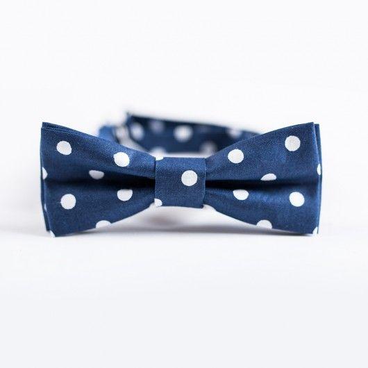 akcesoria - muszki & krawaty-Mucha w grochy