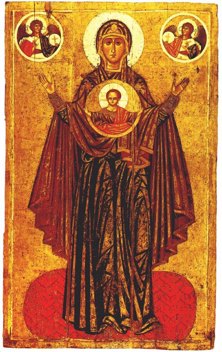 Изображение со страницы http://www.davenation.com/madonnas/found/the-praying-mother-of-god_early-12th-c.jpg.