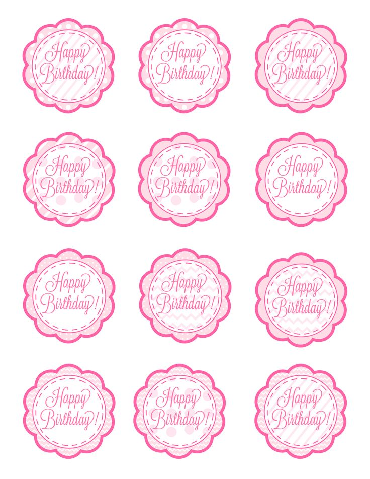 american girl free cupcake toppers printable   These could also EASILY double as gift tags. Just print, cut ...