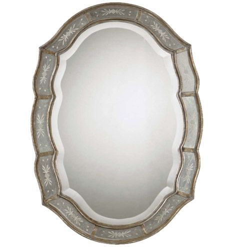 Etched Mirror: Antiques Silver, Living Rooms, Gold Mirror, Antiques Mirror, Wall Mirror, Master Bath, Etchings Mirror, Beveled Mirror, Antiques Gold