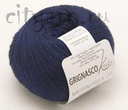 Пряжа Grignasco MERINOSILK 25 - Grignasco <- Пряжа для ручного вязания - Каталог | Пряжа для города