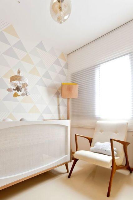 Papel de parede para quarto de bebê unissex