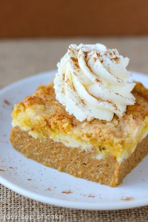 This easy-to-make pumpkin cream cheese dump cake mixes pumpkin pie with cream cheese for a dessert that has all the fall flavors you love—minus the fuss.