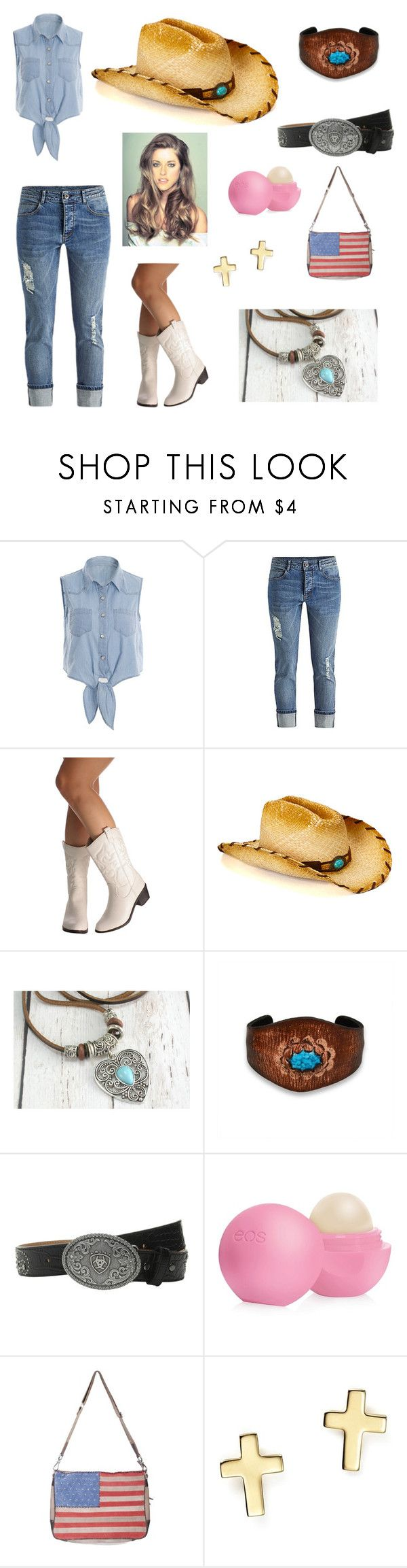 Cowgirl by elizabethdewitt on Polyvore featuring Scully, Bling Jewelry, Bloomingdale's, Ariat, Eos, women's clothing, women's fashion, women, female and woman