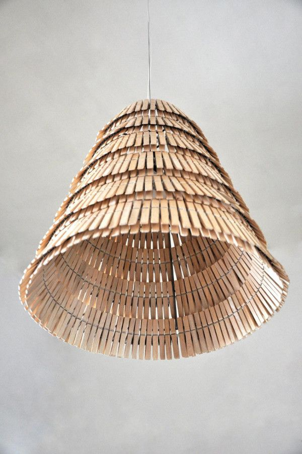 Crea-re Studio takes your average clothespins and uses them to create handmade lamps in Poland.