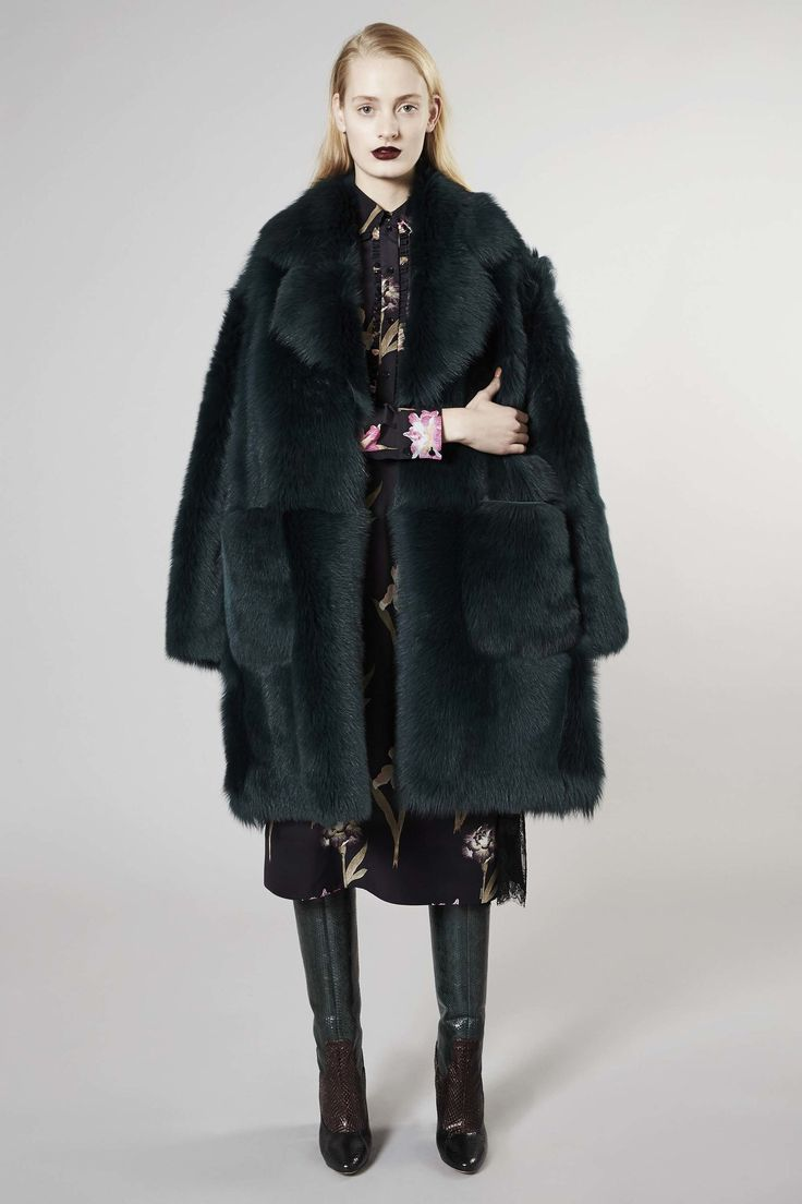Great silhouette. Swap the fur for faux and it's prefect.