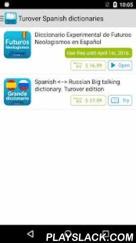 Turover Spanish Dictionaries  Android App - playslack.com ,  The most authoritative Spanish dictionaries by Dr. Guenrikh Turover available for in-app purchaseFull wordlist and 50 sample entries of each dictionary to preview before buyingNow you can make sure that a dictionary complies with your language level and contains all words you need before purchase.The app allows to experience the most advanced search, learning, translation features, and then purchase any of two well-known Spanish…