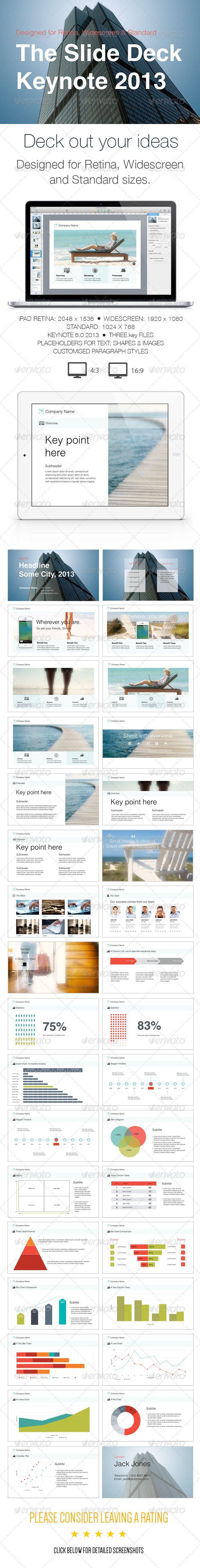 The Slide Deck- A Keynote Template | Keynote theme / template
