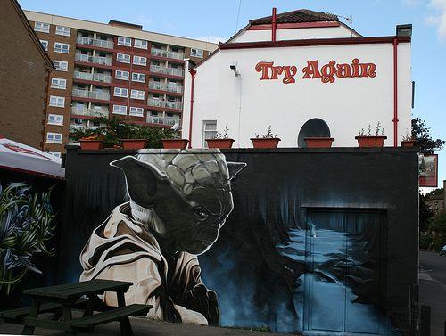 Yoda Graffiti