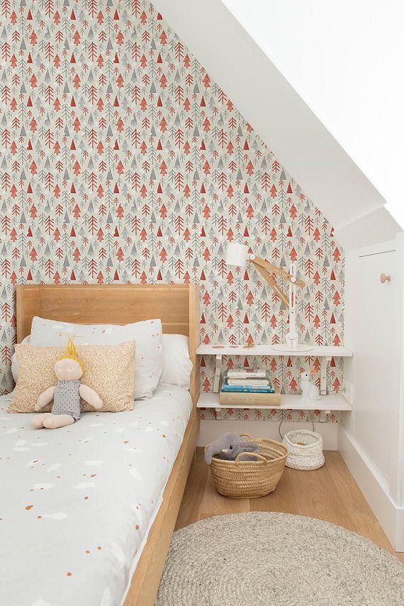 Nursery Wallpaper Woodland Animal Wallpaper Removable