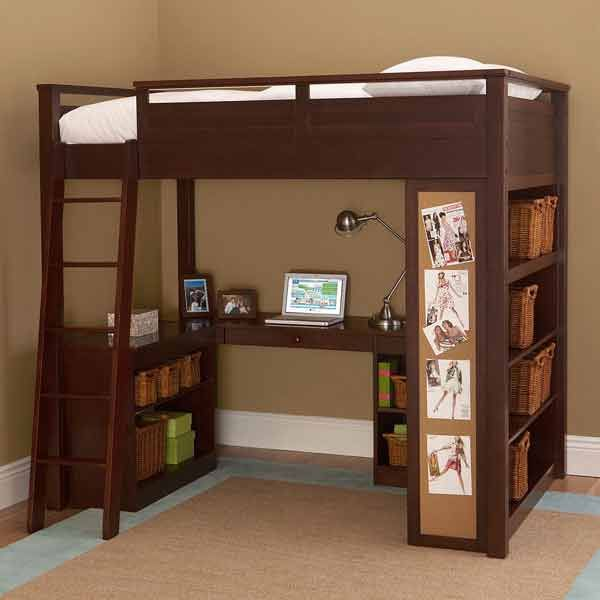 17 best ideas about small teen bedrooms on pinterest - Teenage bedroom furniture with desks ...