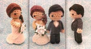 crochet bride and groom free pattern - Google zoeken More