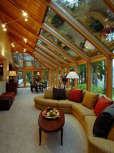 Nice sun room in my mountain home...man am I a dreamer...