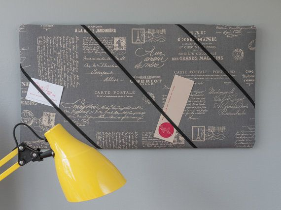 Paris handmade bulletin/memo board with gray by freshdarling