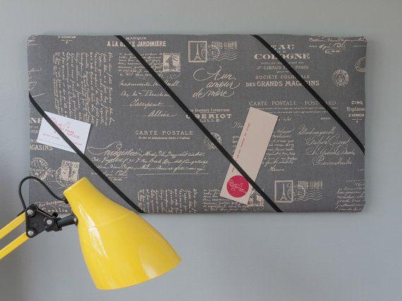 Paris handmade bulletin/memo board with gray by freshdarling